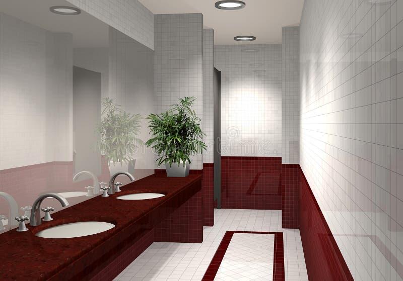 Modernes Badezimmer 3D stock abbildung