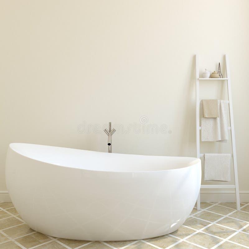Modernes Badezimmer Wiedergabe 3d lizenzfreie abbildung
