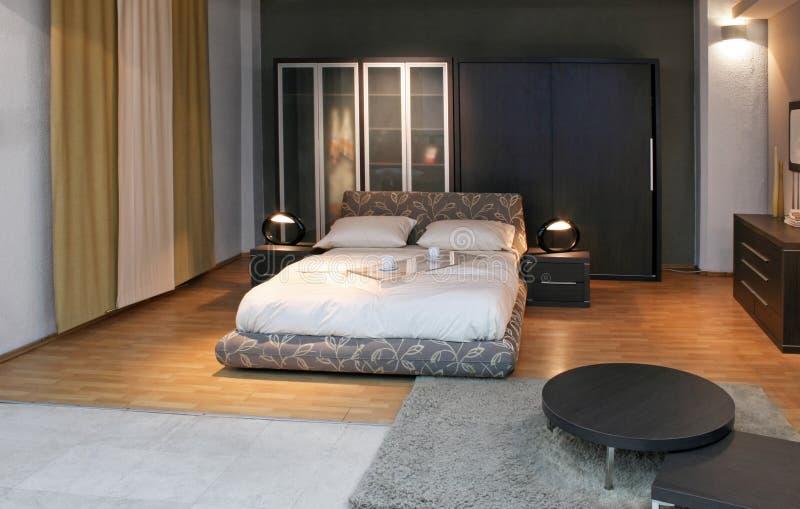 Modernes Bett stockfotos