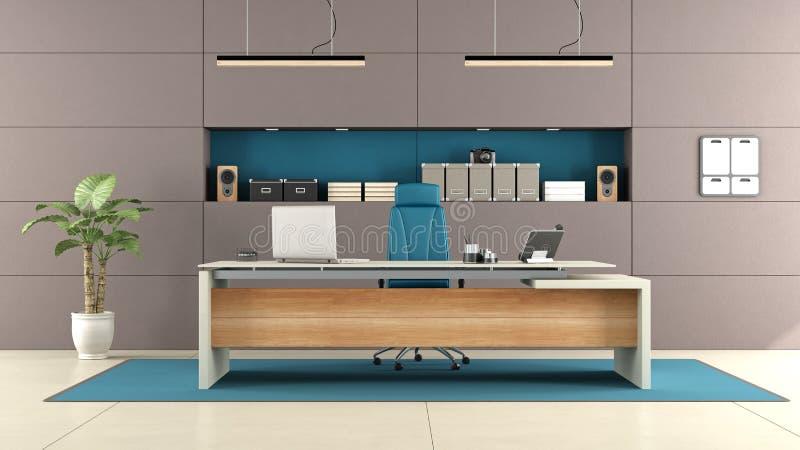 Modernes braunes Büro lizenzfreie abbildung