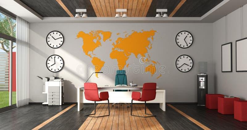 Modernes buntes Büro stock abbildung