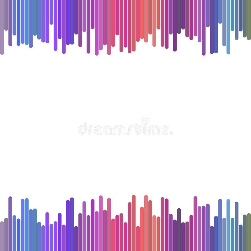 Modernes buntes Hintergrunddesign von der Vertikale rundete Streifen - abstrakte Vektorgraphik stock abbildung