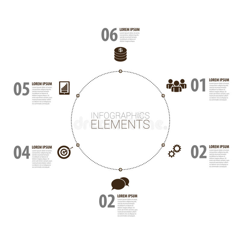 Modernes Design Infographic minimalistic Vektor mit Ikonen lizenzfreie abbildung
