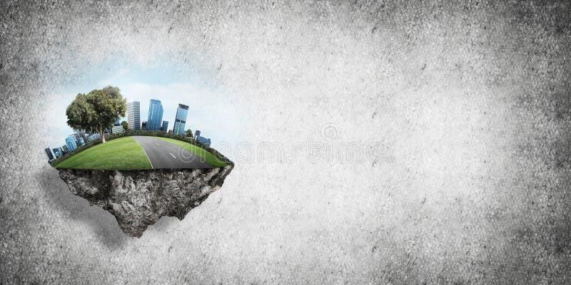 Modernes eco freundliche Stadt und Ökologiekonzepte stockbilder