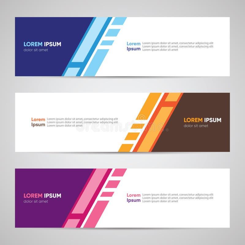 Modernes Fahnendesign Fahnen-Hintergrund-Hintergrund-Titel-Seitenende W lizenzfreie abbildung