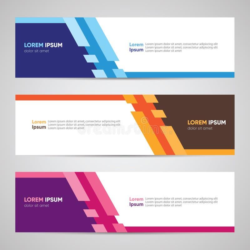 Modernes Fahnendesign Fahnen-Hintergrund-Hintergrund-Titel-Seitenende W vektor abbildung
