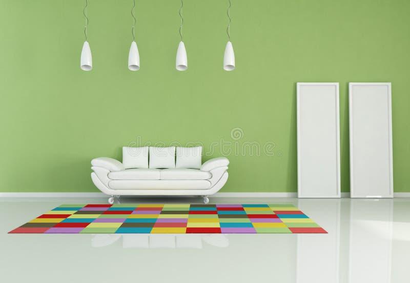 Modernes farbiges Wohnzimmer vektor abbildung