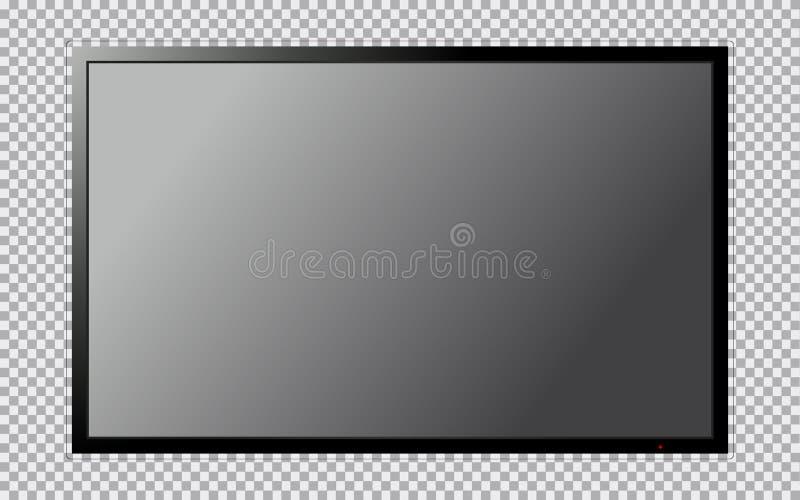 Modernes Fernsehen mit leerem Bildschirm auf transparentem Hintergrund vektor abbildung