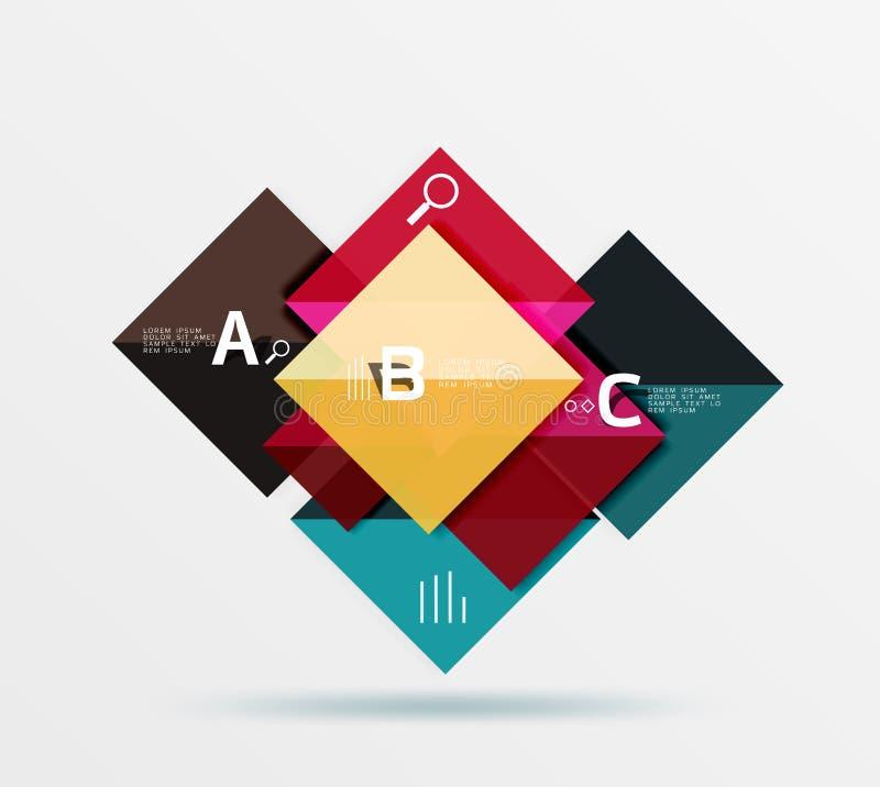 Modernes Fliegenquadrat infographic stock abbildung