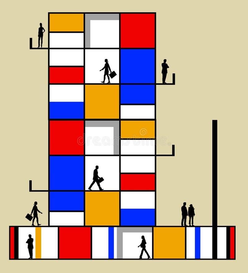 Download Modernes Gebäude stock abbildung. Illustration von netz - 47101276