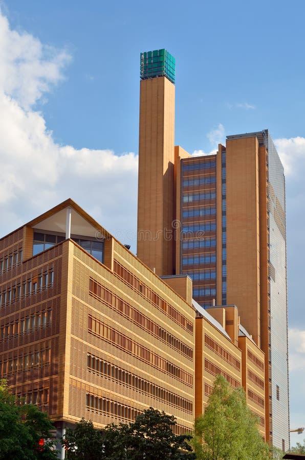 Modernes Gebäude bei Potsdamer Platz in Berlin lizenzfreies stockbild