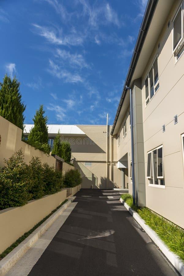 Modernes Gebäude des Architekturdetails lizenzfreies stockbild