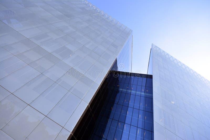 Modernes Gebäude im Glas stockfoto