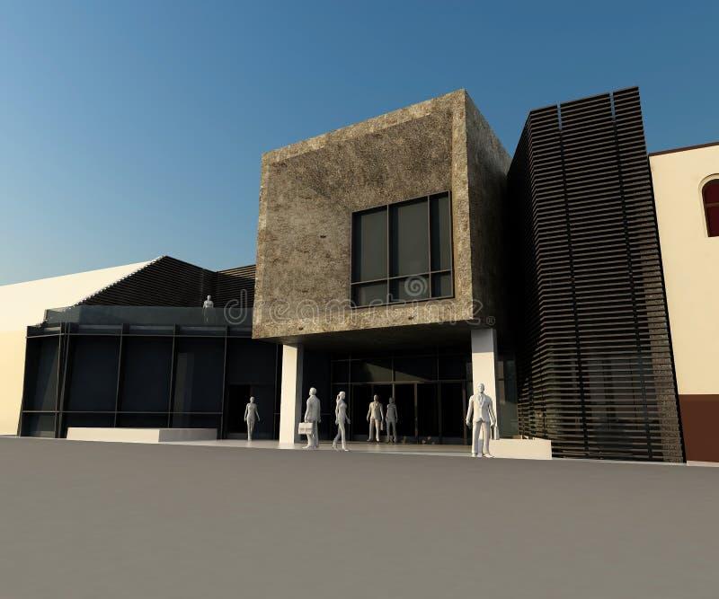 Modernes Gebäude integrierte in historischem stock abbildung