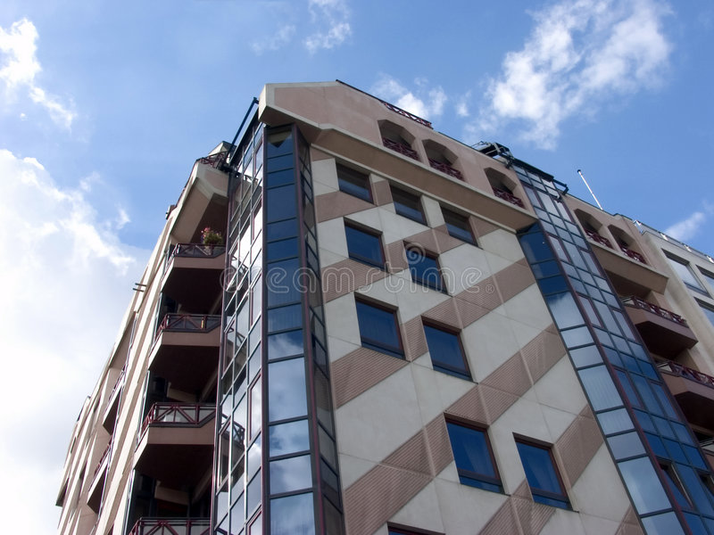 Modernes Gebäude, städtisch. lizenzfreies stockfoto