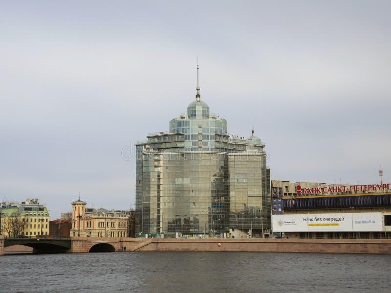 Modernes Gebäude in St Petersburg, Russland stockfotos