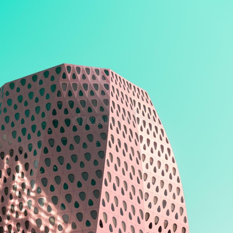 Modernes Gebäudedetail in der Pop-Arten-Art stockfoto