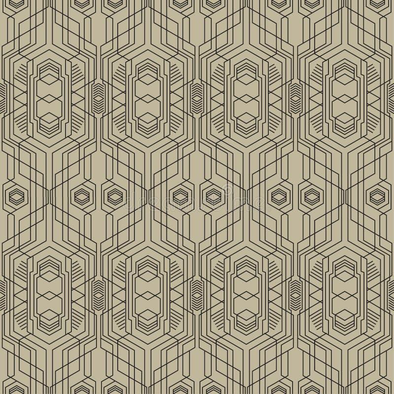 Modernes geometrisches nahtloses Muster 03-2 der abstrakten Kunst stock abbildung