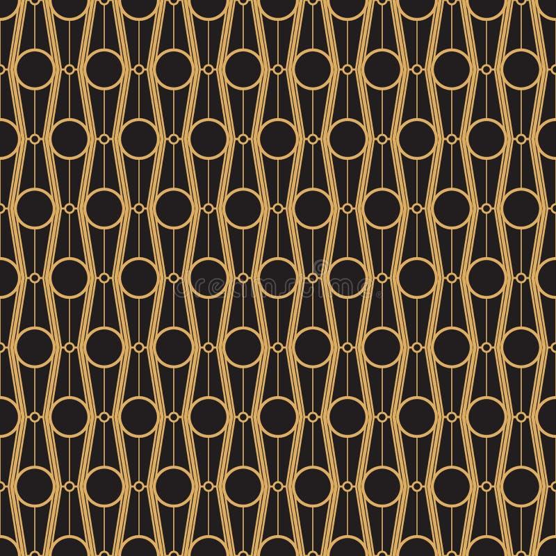 Modernes geometrisches nahtloses Muster der abstrakten Kunst lizenzfreie abbildung