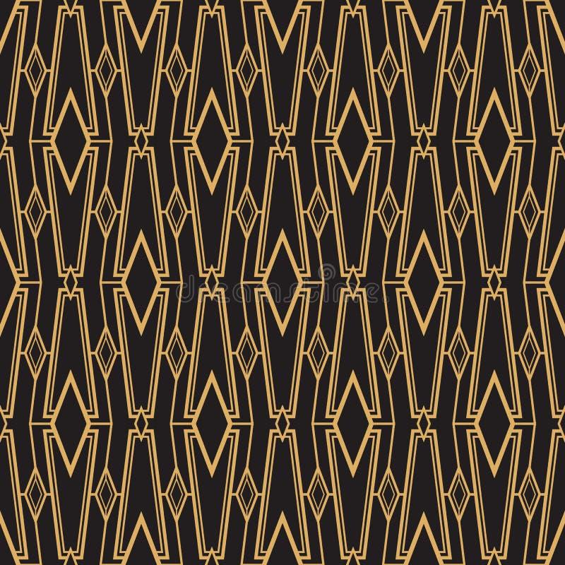 Modernes geometrisches nahtloses Muster der abstrakten Kunst stock abbildung