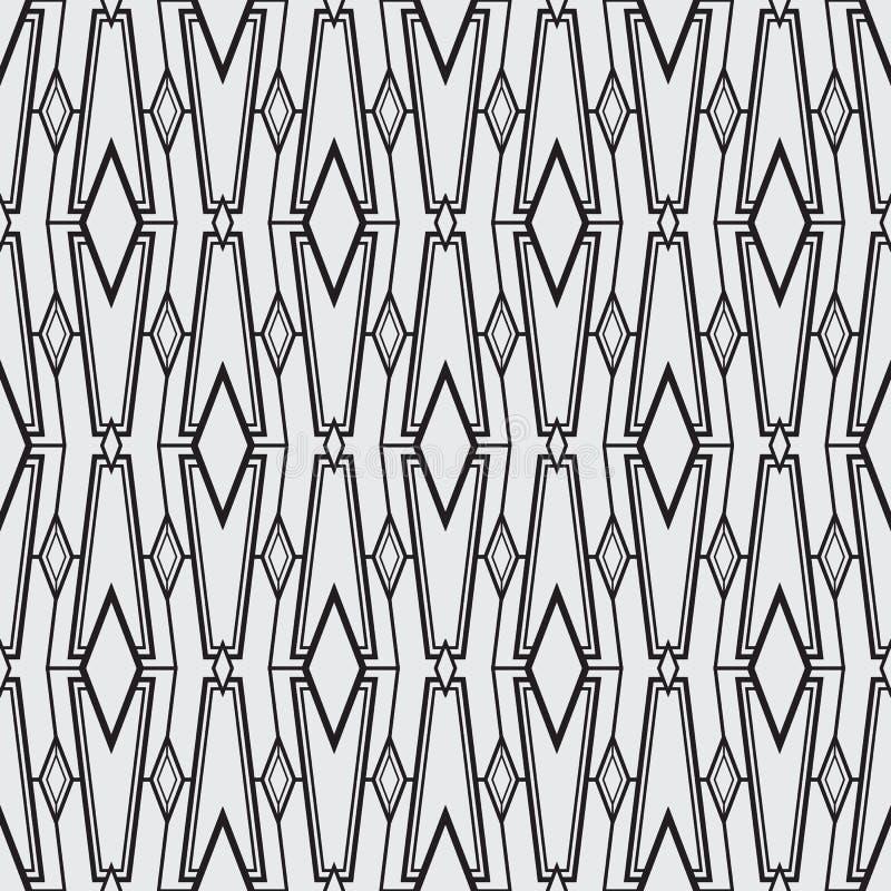 Modernes geometrisches nahtloses Muster der abstrakten Kunst vektor abbildung