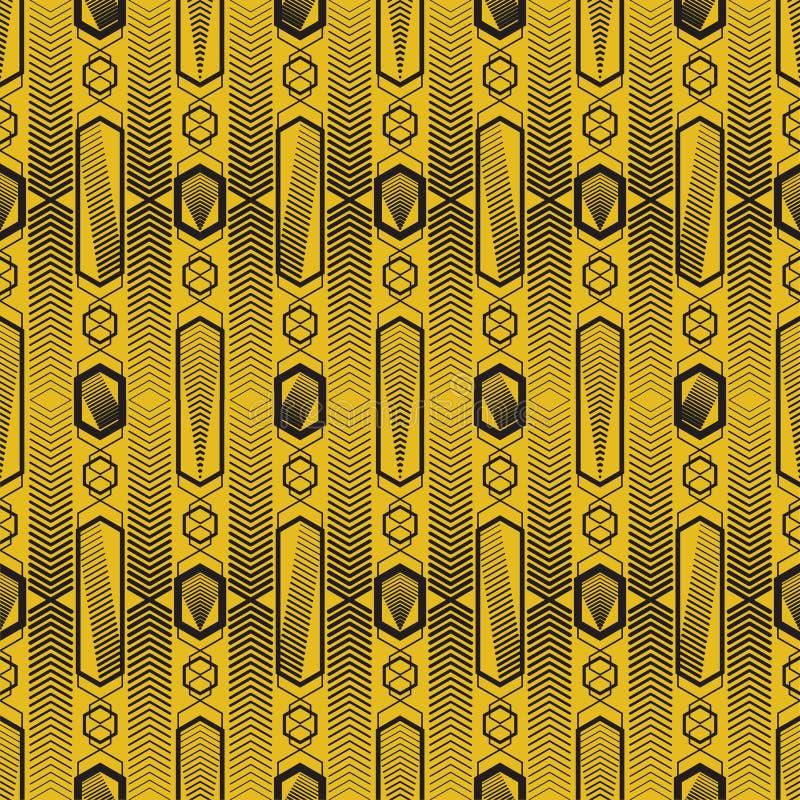 Modernes geometrisches nahtloses Muster des Vektors Satz goldene nahtlose Hintergründe Element, Mode vektor abbildung