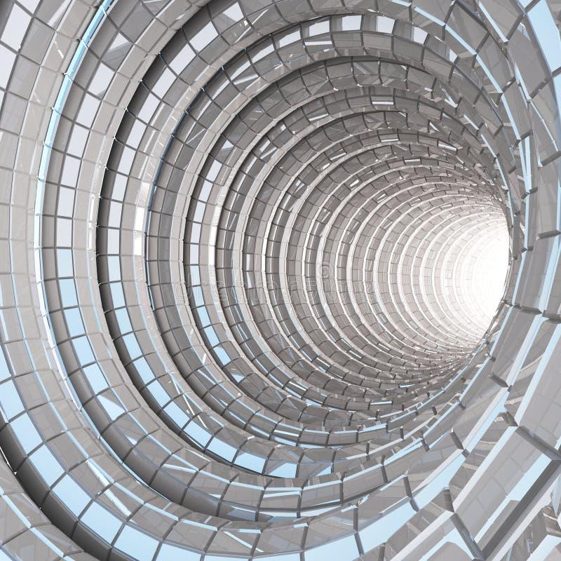Modernes Glas der Tunnelhöhle stockbild