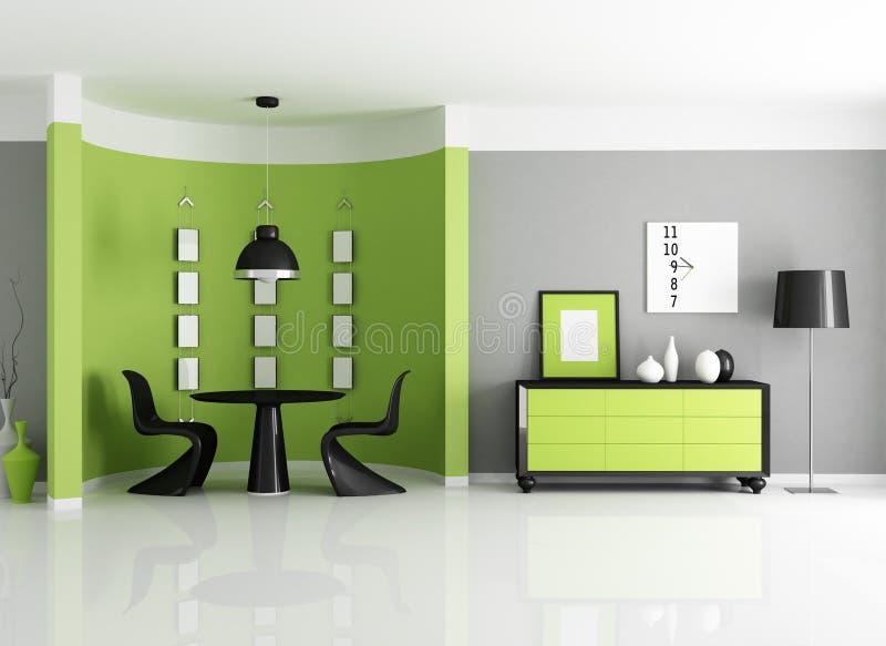 Modernes grünes Esszimmer vektor abbildung
