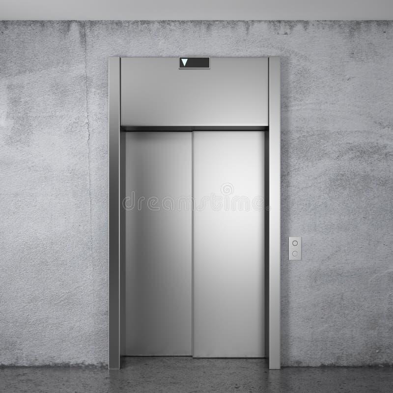 Modernes Höhenruder mit geschlossenen Türen vektor abbildung