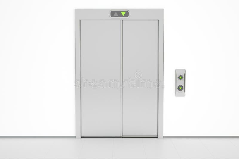 Modernes Höhenruder mit geschlossenen Türen lizenzfreie abbildung