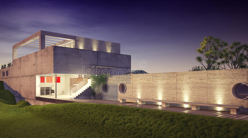 Modernes Haus stock abbildung