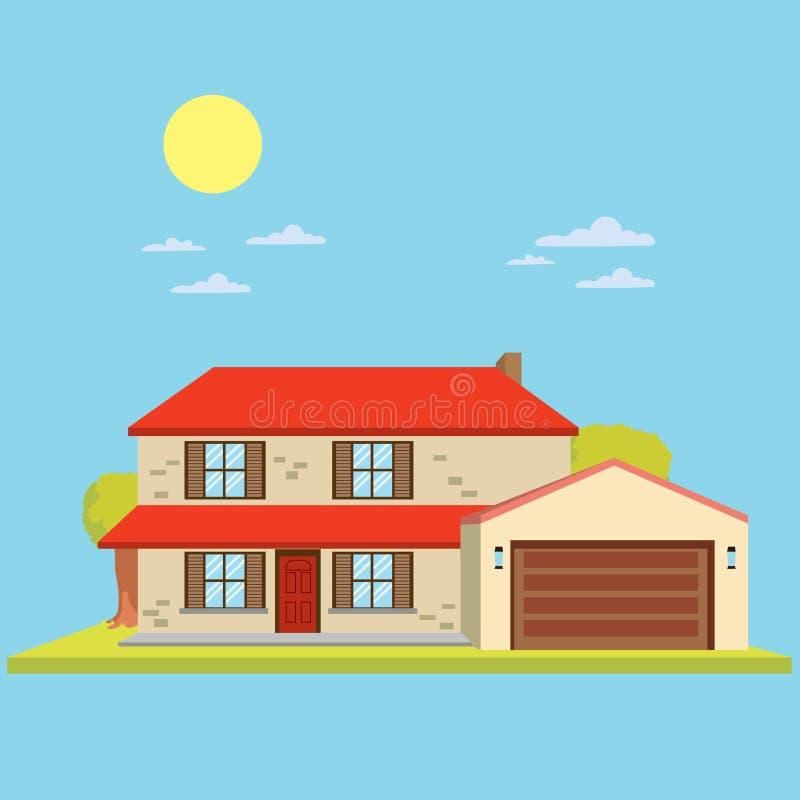 Modernes Haus lizenzfreie abbildung