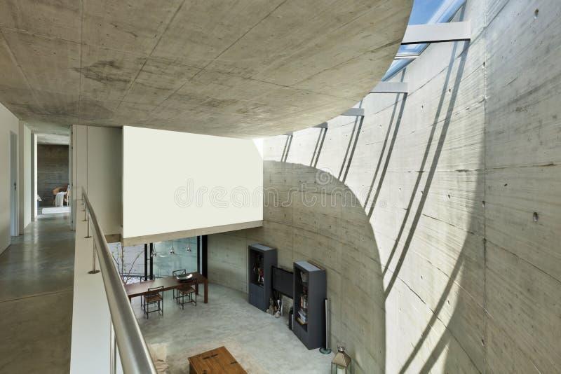 Modernes haus im kleber innen stockbild bild von wohn for Modernes haus von innen
