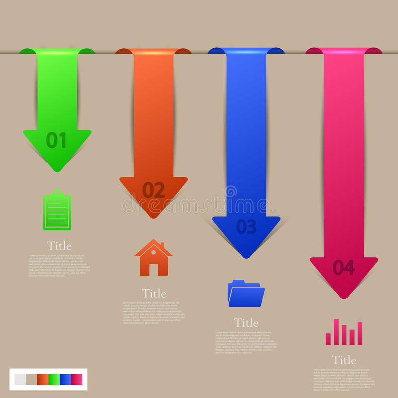 Modernes infographic Elementdesign des Vektors. ENV 10 stock abbildung