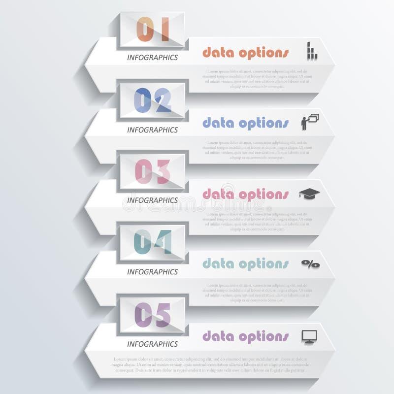 Modernes infographics Design mit Zahlen lizenzfreie abbildung
