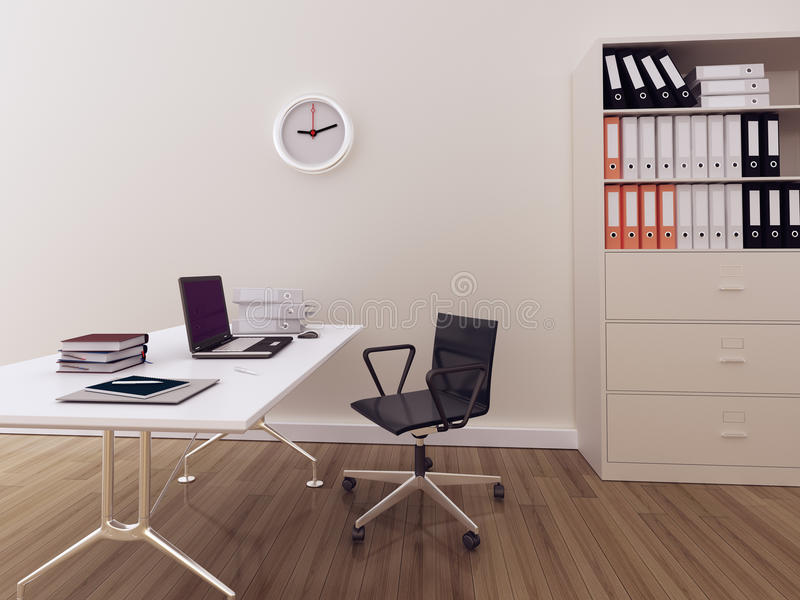 Modernes Innenbüro lizenzfreie abbildung