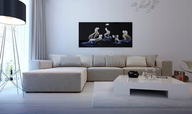 Modernes Innenwohnzimmer stock abbildung
