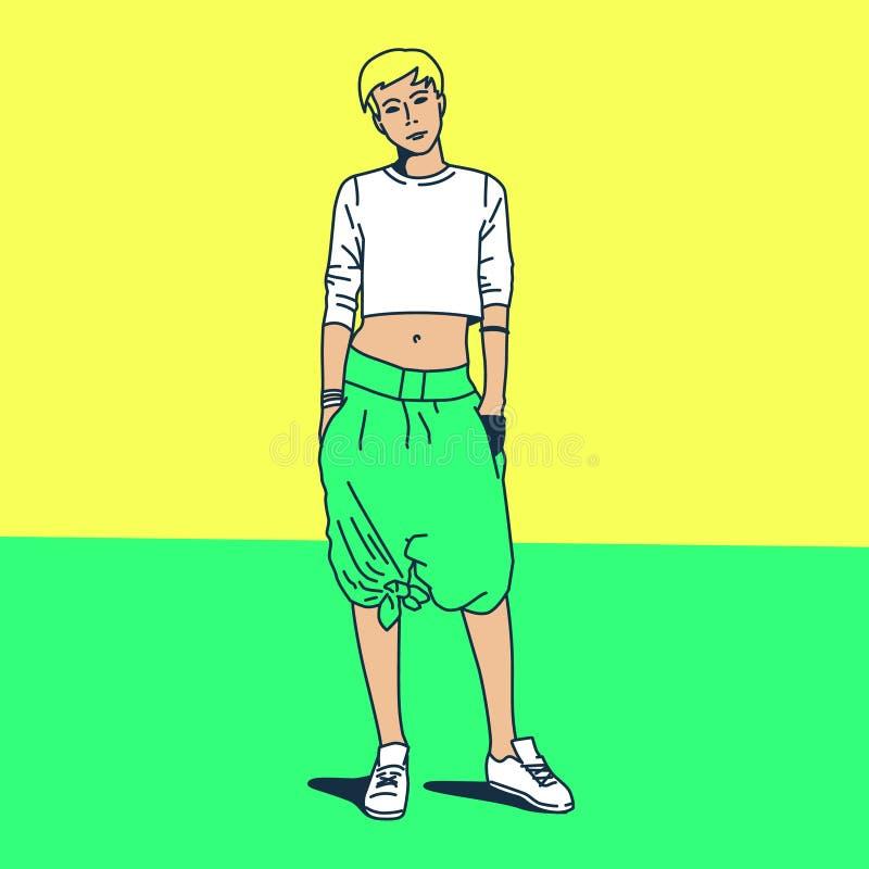 Modernes junges blondes lizenzfreie abbildung