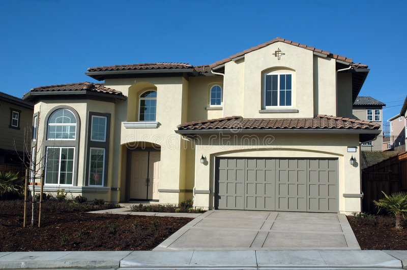 Modernes Kalifornien-Haus stockbild
