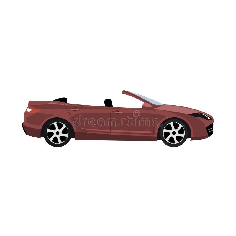 Modernes konvertierbares Auto Luxusdesig stock abbildung