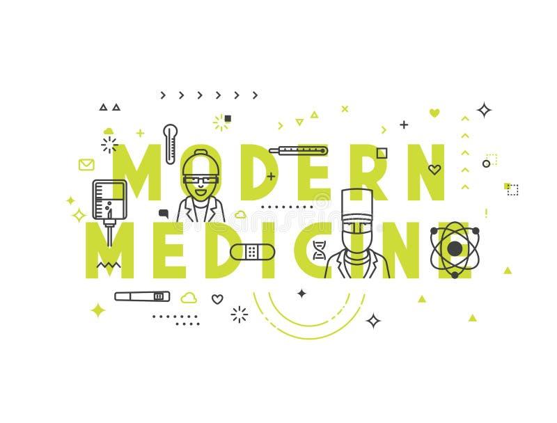 Modernes Konzept der Medizin stock abbildung