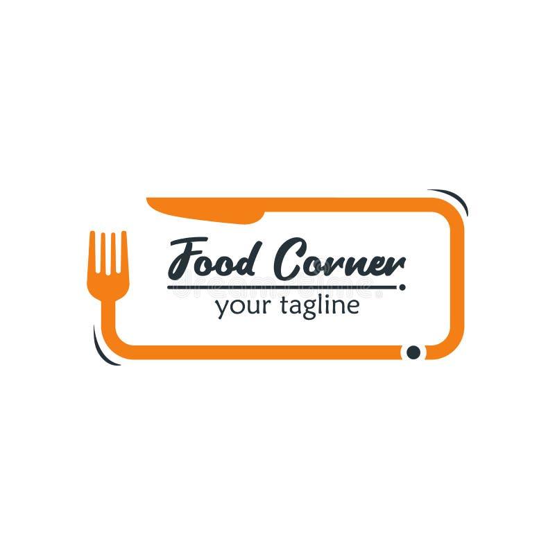 Modernes Lebensmittel Logo Design Template Vector Illustration Passendes f vektor abbildung