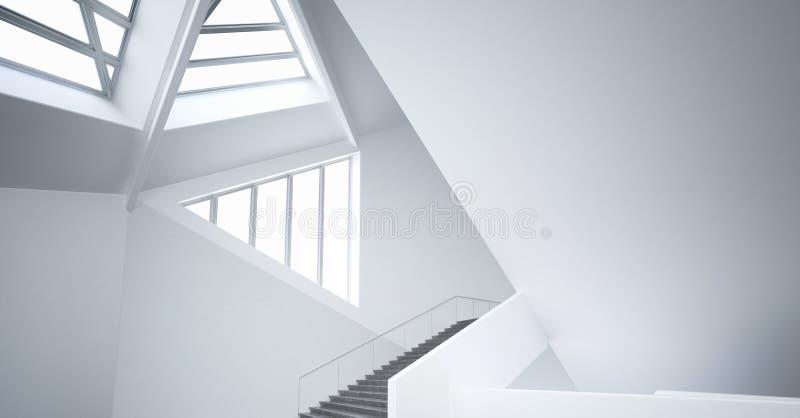 Modernes leeres unbedeutendes Atrium | Architektur-Innenraum stock abbildung