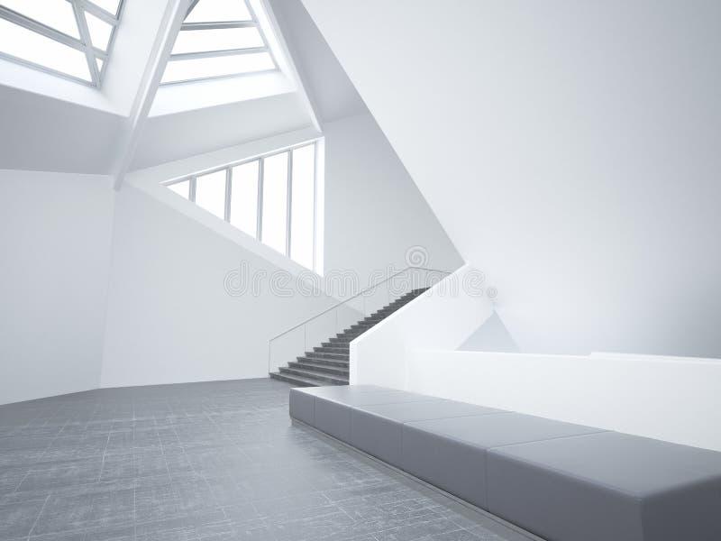 Modernes leeres unbedeutendes Atrium | Architektur-Innenraum vektor abbildung