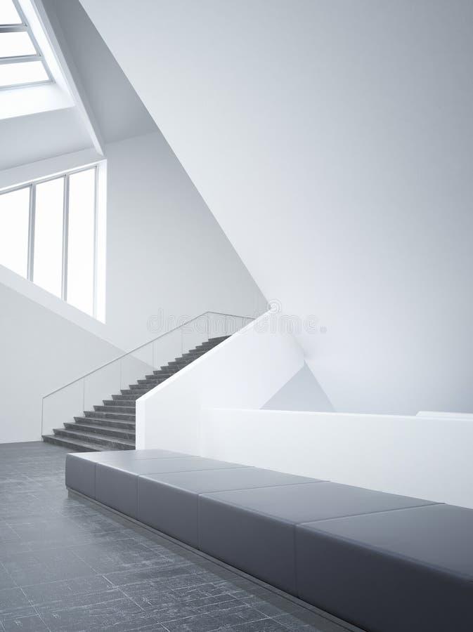 Modernes leeres unbedeutendes Atrium | Architektur-Innenraum lizenzfreie abbildung