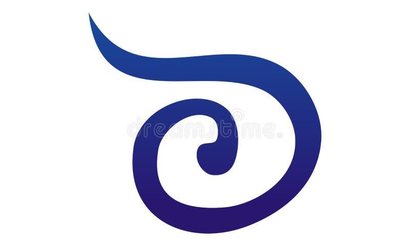 Modernes Logo des Buchstabe-D stock abbildung