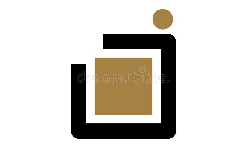 Modernes Logo des Buchstabe-J stock abbildung