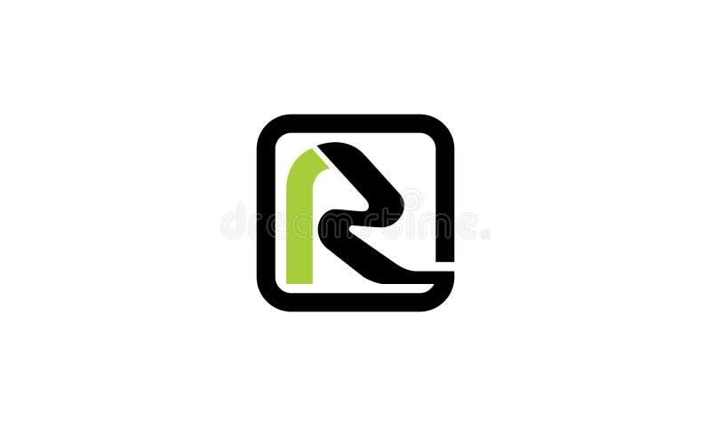 Modernes Logo des Buchstabe-R stock abbildung