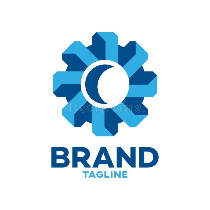 Modernes Logo des Gangs 3D vektor abbildung