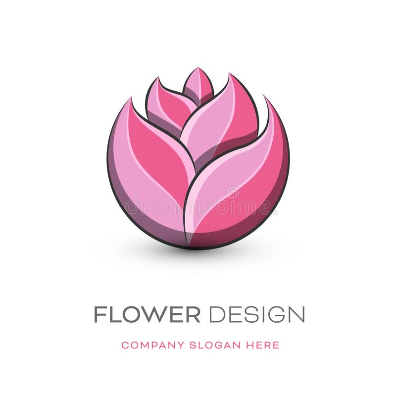 Modernes Logodesign des Floristen vektor abbildung